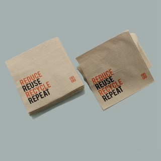 Recycled brown soft tissue paper