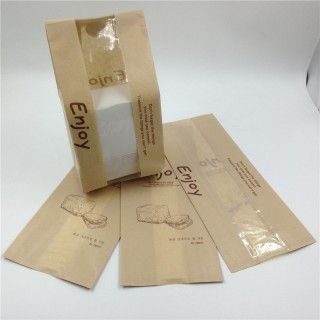 Baguette - bread paper bag with window